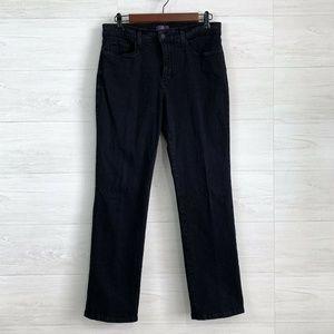 NYDJ Black Marilyn Straight Leg Stretchy Jeans
